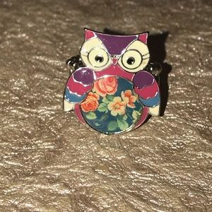Owl ring adjustable NWOT